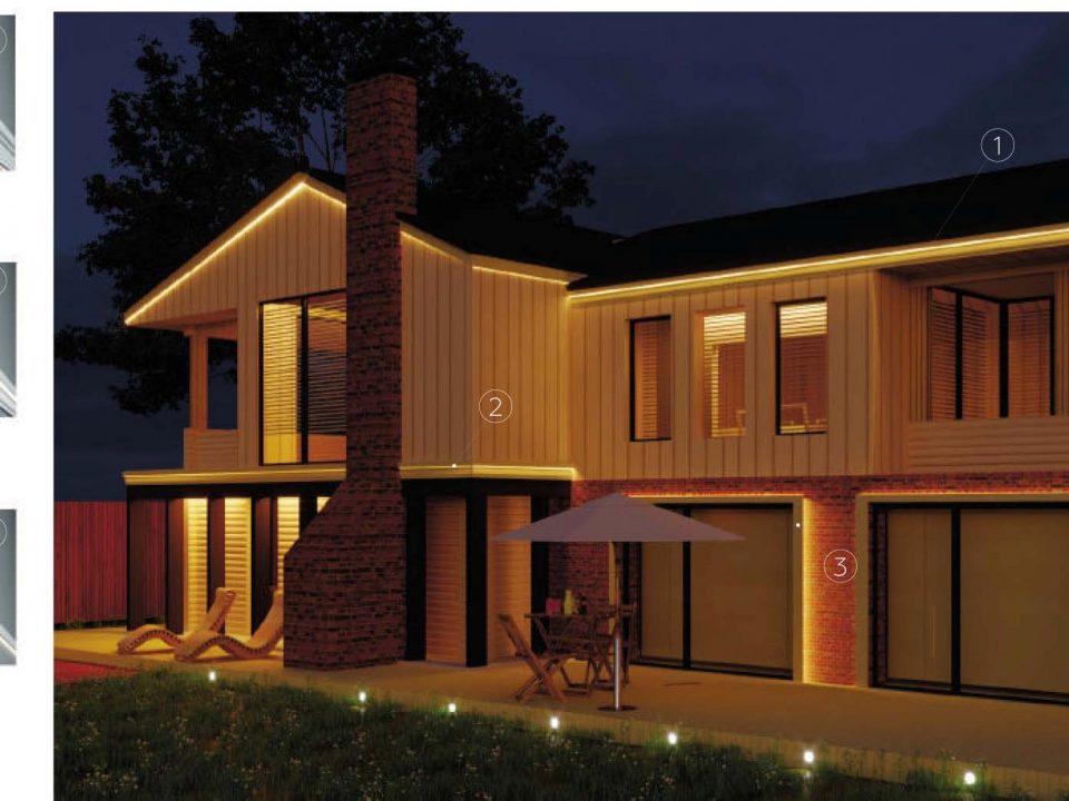 фасадни профили с LED осветление
